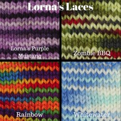Variegated Lorna's Laces Yarns