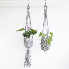 Love Fest Fibers Macrame Basket Plant Hanger Kit
