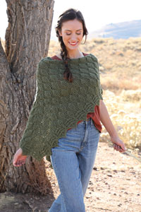 Malabrigo Forest for the Trees Shawl Kit - Crochet for Adults