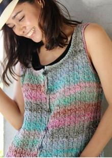 Mirai Cabled Waistcoat pattern