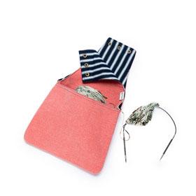 della Q Nora Wrist Bag - 1300-1 *Linen - Coral