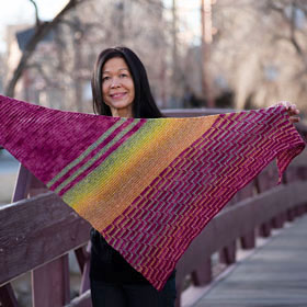 Fully Spun & Madelinetosh Orchid Path Shawl Kit