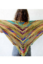 Urth Yarns Uneek Fingering and Malabrigo Sock Butterfly/Papillon Shawl Kit
