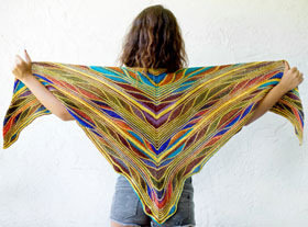 Urth Yarn Uneek Butterfly Papillon Shawl Kit