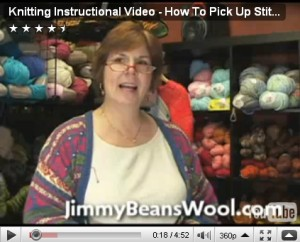 How To Pick Up Stitches Video- Jimmy Beans Wool