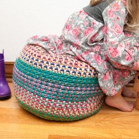 Monster Pouf Crochet Club