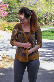 Rosy Green Wool Puerto Natales Cardigan Kit