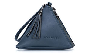 Namaste Maker's Geometry Mini Zip Pyramid Zip Mini - Navy