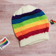 Jimmy Beans Wool Pride kits Rainbows Reign Hat
