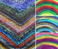 Rainbow Roll Shawl pattern