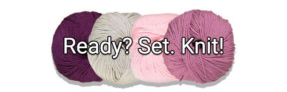 CTA: Ready. Set. Knit!