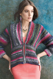 Noro Kureyon Refined Stripes Cardigan Kit