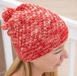 Rhubarb Helix Hat