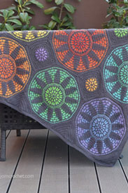 Scheepjes Whirl and Whirlette Stained Glass Wonder Blanket