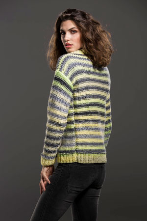 Shaded Stripes Sweater Free Pattern