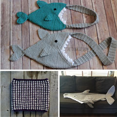 collage of Shark projects