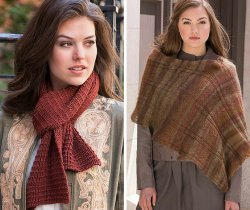 Sheep Meadow and Turtle Bay Scarf patterns