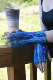 Koigu Paint Can Snow Wave Fingerless Mitts Kit