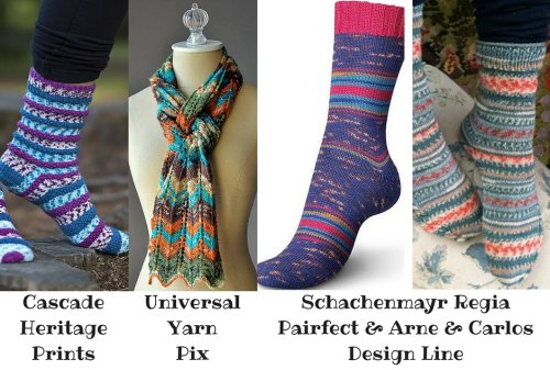 Self-Patterning Sock Yarn
