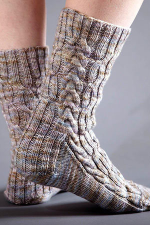 Sprouting Socks Free Pattern