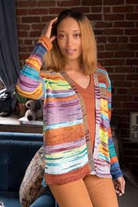 Trendsetter Multi Striped Long V-Neck Cardigan Kit