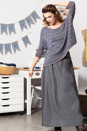 Universal Yarn Bamboo Pop No. 1 Pullover Kit
