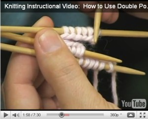 Use Double Pointed Needles
