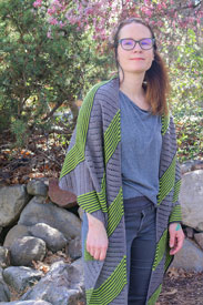 Rosy Green Wool Viedma Shawl Kit