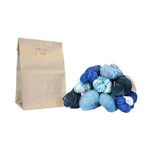Jimmy Beans Wool Worsted Mystery Yarn Grab Bags yarn Blues