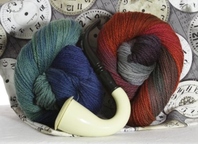 Lorna's Limited Edition Yarns Dr. Watson's Blues and Sherlock's Secret