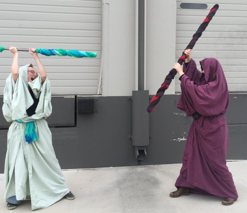 Kristen and Leanne fighting it out over the Star Wars MXAL