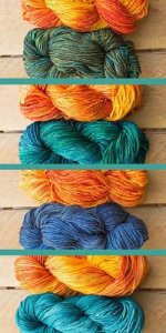 Different Color Options for Baja Sunrise Shawl