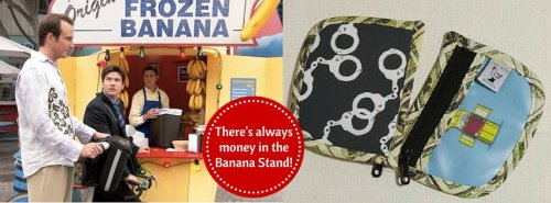 Banana Stand Stitch Marker Pouch