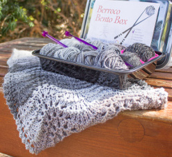 The Nami Cowl - a pattern you can make with a Bento Box!