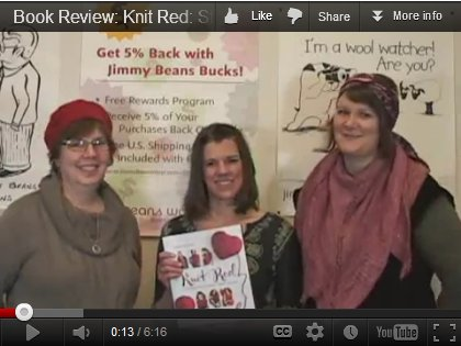 Knit Red Book Review by Laura, Kristen and Jeanne of JBW!