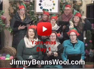 Caroling beans singing the 12 days of Yarn-mas!