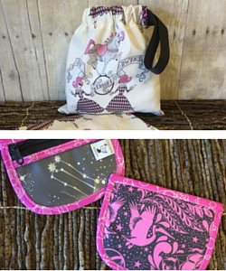Gemini pouch and wristlet from Chicken Boots