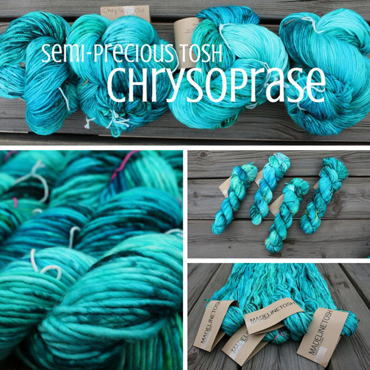 Chrysoprase yarn header collage image