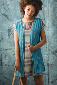 Universal Yarn Bamboo Pop Clearwater Coverup