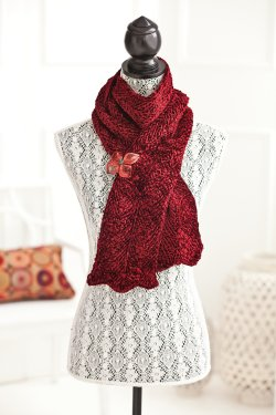 Muench Touch Me Tunisian Chevron Scarf