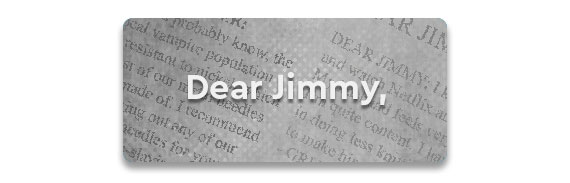 Dear Jimmy Button