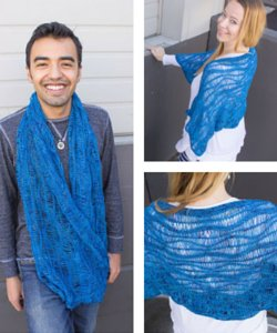 Deep Sea Shawl or Shrug pattern