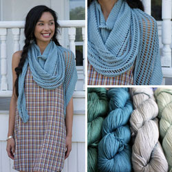 collage of delphin shawl