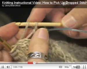 How to Pick Up Dropped Stitches