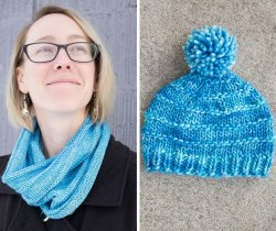Cowl and Hat in Pisces