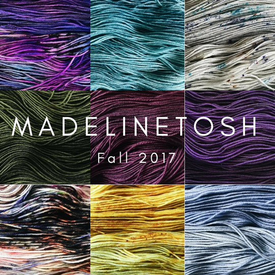 Fall 2017 Madelinetosh Colors!