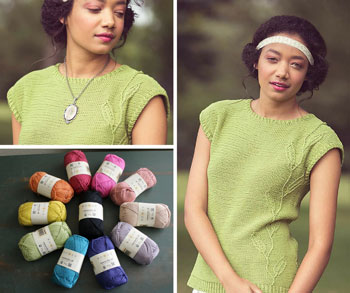Foglia Top by Irina Anikeeva (featured in Knitscene Summer 2017)
