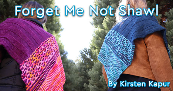Forget Me Not Shawl Kirsten Kapur