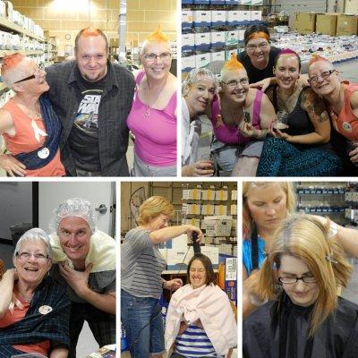 Peach hairdos at Jimmy Beans Wool!