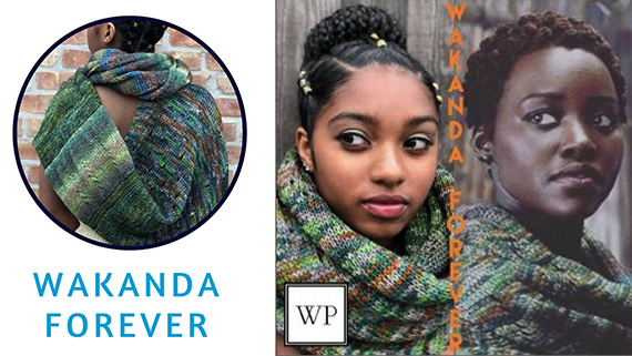 nakia wrap black panther collection madelinetosh